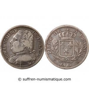 LOUIS XVIII - 5 FRANCS 1814...