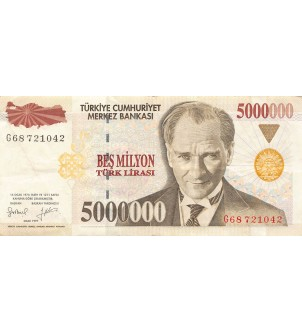 TURQUIE, ATATÜRK - 5000000...