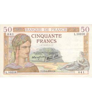 FRANCE - 50 FRANCS CERES...
