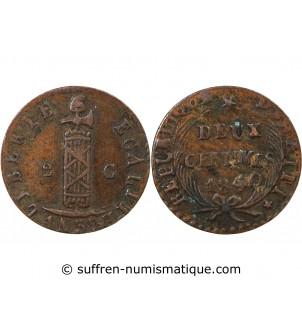 HAITI - 2 CENTIMES 1840