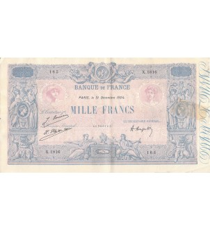 FRANCE - 1000 FRANCS BLEU...