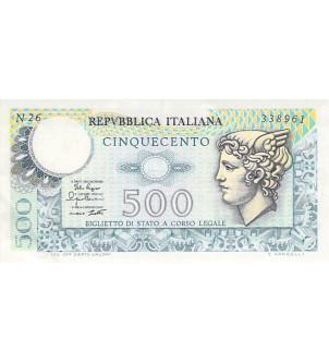 ITALIE, MERCURE - 500 LIRE...