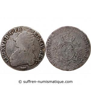 LOUIS XVI - ECU ARGENT AUX...