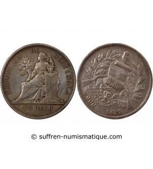 GUATEMALA - 1 PESO ARGENT 1896