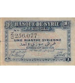 SYRIE - 1 PIASTRE 01/01/1920