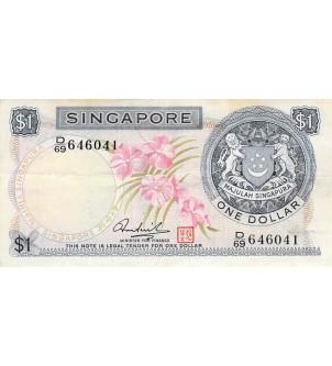 SINGAPOUR - 1 DOLLAR (1972)...