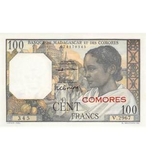 COMORES - 100 FRANCS 1960 /...