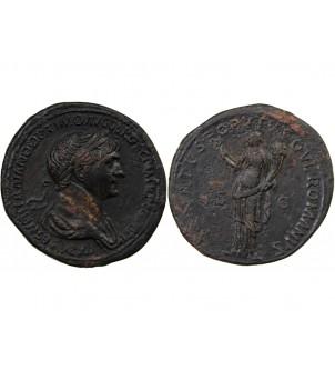 TRAJAN - SESTERCE 116 ROME