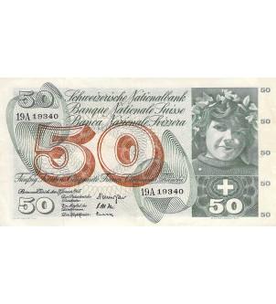 SUISSE - 50 FRANCS 21/01/1965