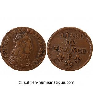 LOUIS XIV - LIARD AU BUSTE...