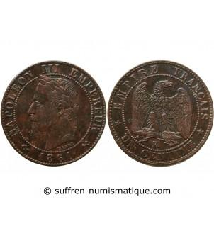 1 CENTIME NAPOLEON III 1861...