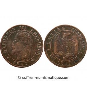 1 CENTIME NAPOLEON III 1862...