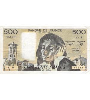 FRANCE, PASCAL - 500 FRANCS...
