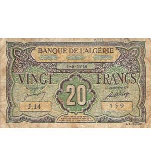 ALGERIE - 20 FRANCS...
