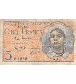ALGERIE - 5 FRANCS...