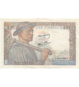 FRANCE, MINEUR - 10 FRANCS...