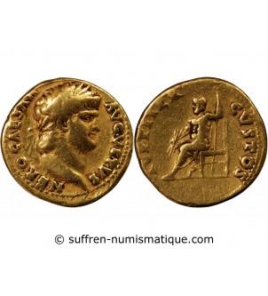 NERON - AUREUS OR 65-66 ROME