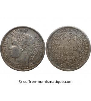 5 FRANCS CERES 1849 BB...