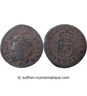 LOUIS XVI - LIARD 1791 K...