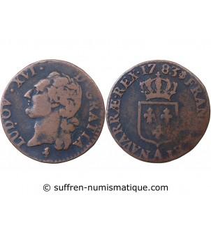 LOUIS XVI - 1/2 SOL 1783 A...
