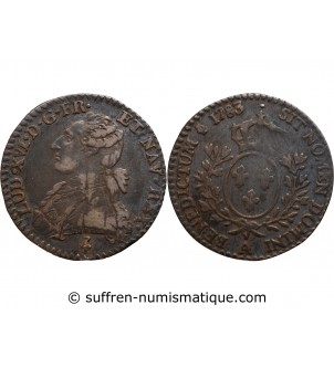 LOUIS XVI - 1/10 ECU 1783 A...