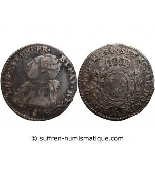 LOUIS XVI - 1/10 ECU 1784...