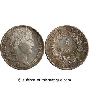5 FRANCS NAPOLEON I  1811 A...