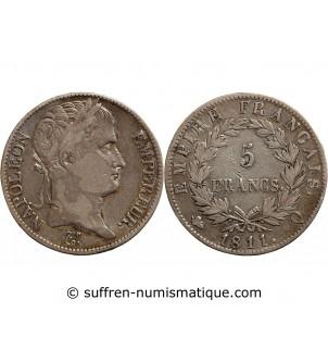 5 FRANCS NAPOLEON I  1811 Q...