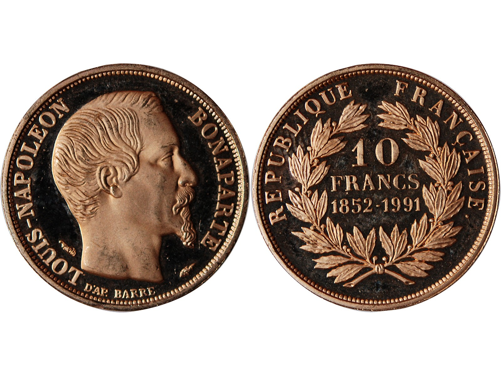 louis napoleon bonaparte 10 francs or 1852 1991 vente monnaie 10 francs suffren numismatique. Black Bedroom Furniture Sets. Home Design Ideas